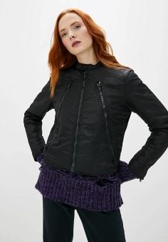 Куртка утепленная, MM6 Maison Margiela, цвет: черный. Артикул: MM004EWFWGB1. Premium