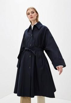 Плащ, MM6 Maison Margiela, цвет: синий. Артикул: MM004EWHLKR5. Одежда / Верхняя одежда / Плащи и тренчи