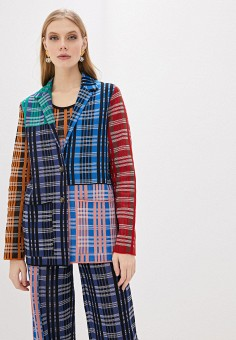 Пиджак, M Missoni, цвет: мультиколор. Артикул: MM151EWHKXK5. Одежда / Пиджаки и костюмы