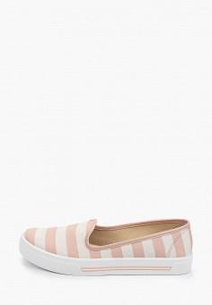 Слипоны, Moleca, цвет: розовый. Артикул: MO001AWHMVO3. Обувь / Слипоны
