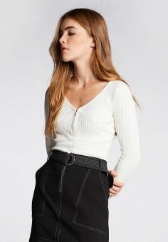 Пуловер, Morgan, цвет: бежевый. Артикул: MO012EWBMWE9.