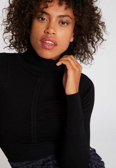 Водолазка, Morgan, цвет: черный. Артикул: MO012EWFVSA0. Одежда / Джемперы, свитеры и кардиганы / Водолазки
