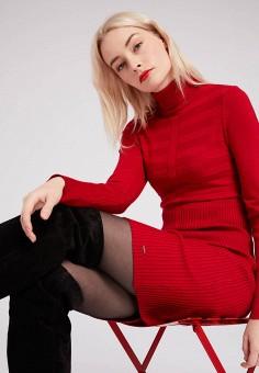 Платье, Morgan, цвет: красный. Артикул: MO012EWFVSB9.