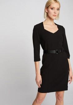 Платье, Morgan, цвет: черный. Артикул: MO012EWIMYX2.
