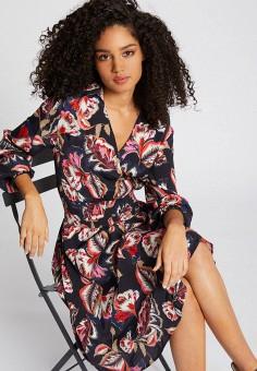 Платье, Morgan, цвет: черный. Артикул: MO012EWIMZB5.