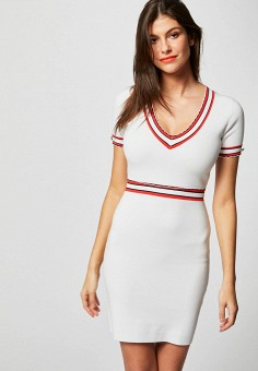 Платье, Morgan, цвет: белый. Артикул: MO012EWIMZB8.