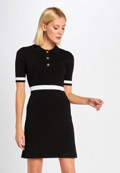 Платье, Morgan, цвет: черный. Артикул: MO012EWIMZC6.