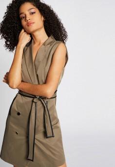 Платье, Morgan, цвет: бежевый. Артикул: MO012EWIMZG4.