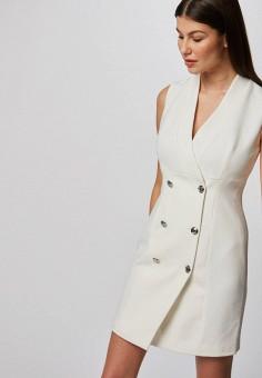 Платье, Morgan, цвет: белый. Артикул: MO012EWIMZG7.