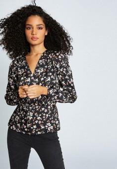 Блуза, Morgan, цвет: черный. Артикул: MO012EWIMZJ0.