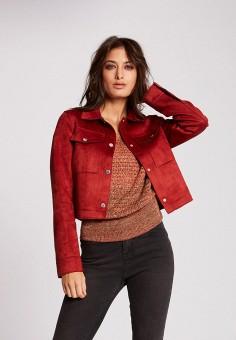 Куртка кожаная, Morgan, цвет: красный. Артикул: MO012EWIMZJ8.
