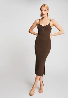 Платье, Morgan, цвет: хаки. Артикул: MO012EWIMZK5.