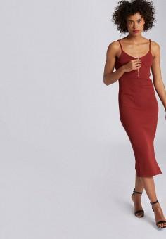 Платье, Morgan, цвет: красный. Артикул: MO012EWIMZK6.