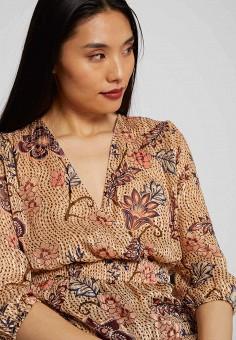 Блуза, Morgan, цвет: бежевый. Артикул: MO012EWIMZL2.