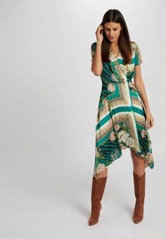 Платье, Morgan, цвет: зеленый. Артикул: MO012EWIMZL5.