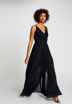 Платье, Morgan, цвет: черный. Артикул: MO012EWIMZN4.