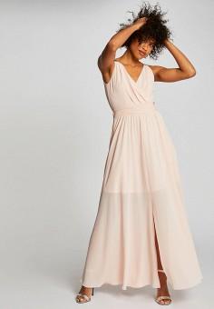 Платье, Morgan, цвет: бежевый. Артикул: MO012EWIMZN5.