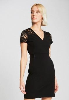 Платье, Morgan, цвет: черный. Артикул: MO012EWIMZP0.