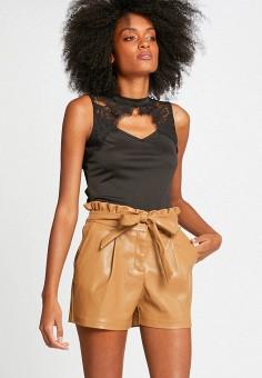 Блуза, Morgan, цвет: черный. Артикул: MO012EWIMZS7.