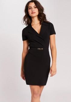 Платье, Morgan, цвет: черный. Артикул: MO012EWJTBO4.