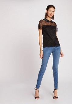 Блуза, Morgan, цвет: черный. Артикул: MO012EWJTBV5.