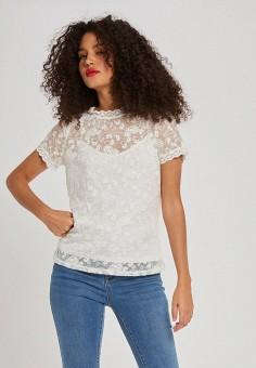 Блуза, Morgan, цвет: белый. Артикул: MO012EWJTBW1.