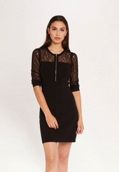 Платье, Morgan, цвет: черный. Артикул: MO012EWJTBZ4.