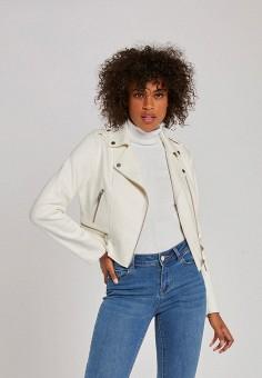 Куртка кожаная, Morgan, цвет: белый. Артикул: MO012EWJTCA4.