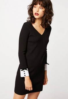Платье, Morgan, цвет: черный. Артикул: MO012EWJTCM6.