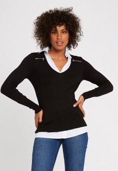 Пуловер, Morgan, цвет: черный. Артикул: MO012EWJYDH4.
