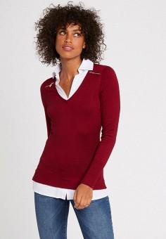 Пуловер, Morgan, цвет: бордовый. Артикул: MO012EWJYDH6.