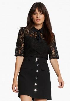 Блуза, Morgan, цвет: черный. Артикул: MO012EWJYDH8.