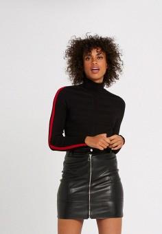 Водолазка, Morgan, цвет: черный. Артикул: MO012EWKBRM2. Одежда / Джемперы, свитеры и кардиганы / Водолазки