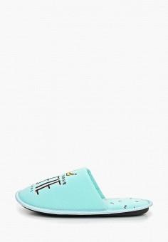 Тапочки, Modis, цвет: бирюзовый. Артикул: MO044AWEFTX4. Обувь / Домашняя обувь
