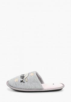 Тапочки, Modis, цвет: серый. Артикул: MO044AWEFTX6. Обувь / Домашняя обувь