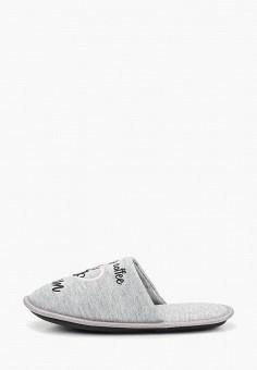 Тапочки, Modis, цвет: серый. Артикул: MO044AWEFTY1. Обувь / Домашняя обувь