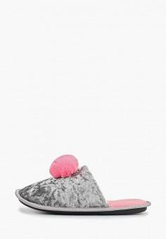 Тапочки, Modis, цвет: серый. Артикул: MO044AWERJN1. Обувь / Домашняя обувь
