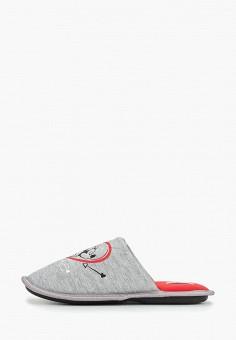 Тапочки, Modis, цвет: серый. Артикул: MO044AWERJN3. Обувь / Домашняя обувь