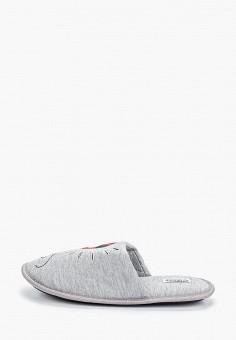 Тапочки, Modis, цвет: серый. Артикул: MO044AWERJN4. Обувь / Домашняя обувь