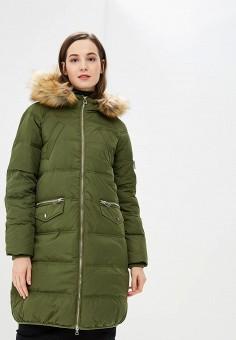 Пуховик, Modis, цвет: зеленый. Артикул: MO044EWCZZG4. Одежда / Верхняя одежда / Пуховики и зимние куртки / Пуховики