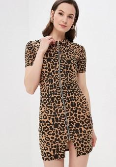 Платье, Modis, цвет: коричневый. Артикул: MO044EWFBOB2.
