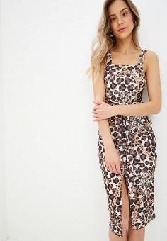 Платье, Modis, цвет: коричневый. Артикул: MO044EWFFXE7.