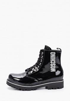 Ботинки, Moschino, цвет: черный. Артикул: MO351AGKICU9. Девочкам / Обувь