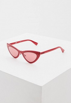 Очки солнцезащитные, Moschino, цвет: бордовый. Артикул: MO351DWHBJZ0. Premium