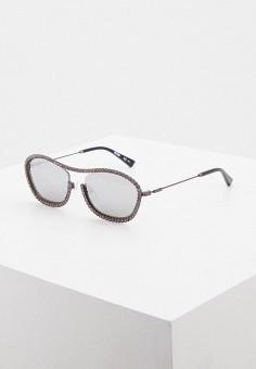 Очки солнцезащитные, Moschino, цвет: серебряный. Артикул: MO351DWIUVK9. Аксессуары / Очки