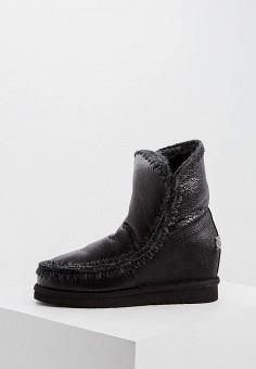 Угги, Mou, цвет: черный. Артикул: MO999AWFLGZ8. Обувь / Сапоги / Угги и унты