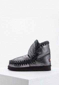 Полусапоги, Mou, цвет: серебряный. Артикул: MO999AWFLHA0. Обувь / Сапоги / Угги и унты