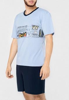 Пижама, Kayser, цвет: голубой, синий. Артикул: MP002XM12C8F. Одежда / Домашняя одежда