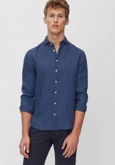 Рубашка, Marc O'Polo, цвет: синий. Артикул: MP002XM1KAPK. Одежда / Рубашки / Рубашки с длинным рукавом