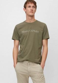 Футболка, Marc O'Polo, цвет: хаки. Артикул: MP002XM1KBPK. Одежда / Футболки и поло